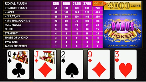 Play online Casino Bonus Poker