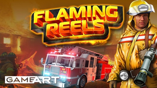 Flaming reels from Game Art